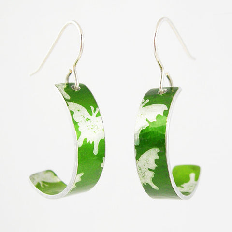 Green Butterflies Earrings