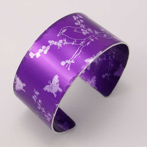 Purple Finches Cuff