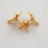 Gold-plated Silver Star Earrings
