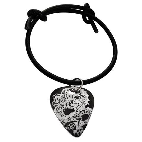 Guitar Pick Bracelet - Black Dragon