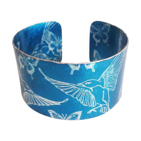 Blue Hummingbirds Cuff