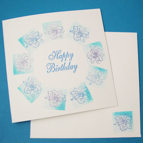 Birth Flower Birthday Card - July's Larkspur