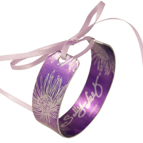 November's Birth Flower - Lilac Chrysanthemum Cuff