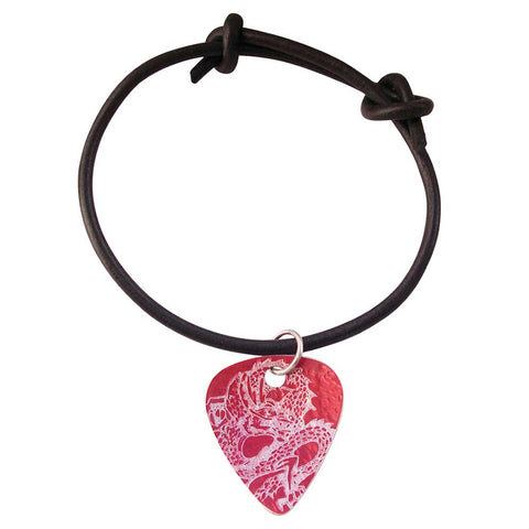 Guitar Pick - Red Dragon Bracelet