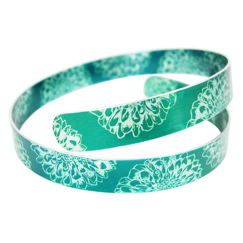 September's Birth Flower - Green Aster Cuff