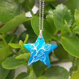 May's Birth Flower Sweet Pea Star Pendant