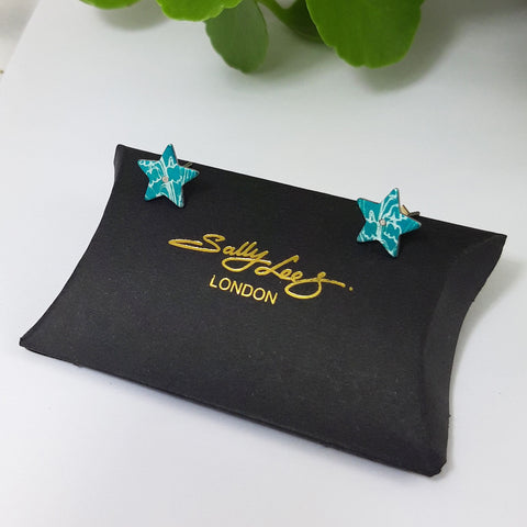 May birth fower, green, lily of the valley, star, stud earrings