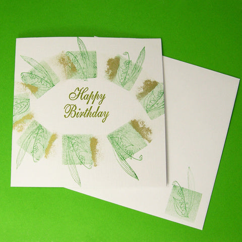 Birth Flower Birthday Card - May's Lily of the Valley