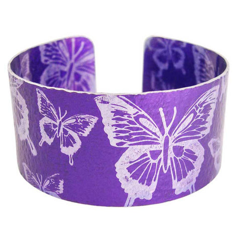 Purple Butterflies Cuff