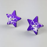 Birth Flower Earrings - July's Larkspur in Purple
