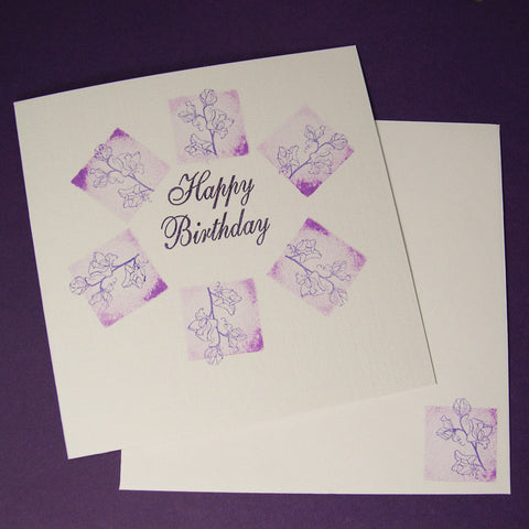 Birth Flower Birthday Card - April's Sweet Peas