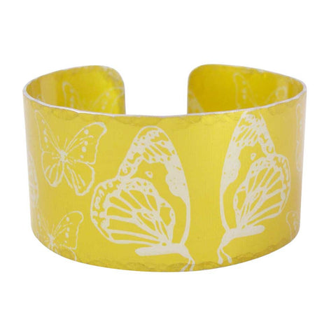 Yellow Butterflies Cuff