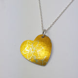 Birth Flower Pendant - March's Daffodil in Yellow