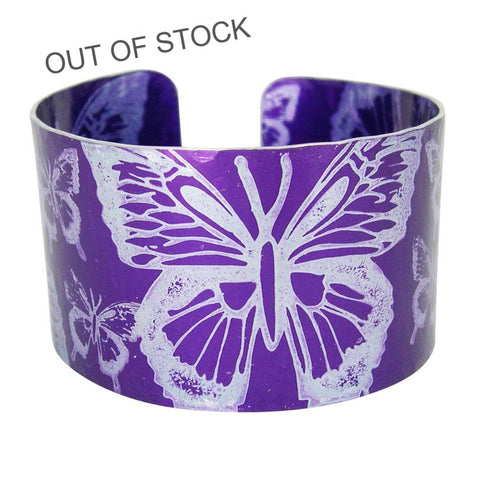 Purple Butterfly Cuff