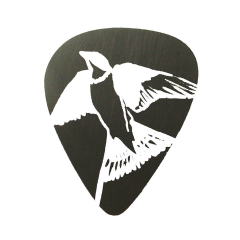Guitar Pick - Black Swallow