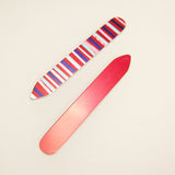 Red, White and Blue Pinstripe Collar Stays