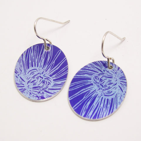 Purple Chrysanthemum earrings