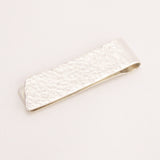 Hand made contemporary designer Silver Money Clip by Jeweller Sally Lees