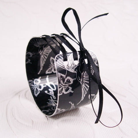 Black Hummingbirds Corset Cuff hand made from aluminium printed by Sally Lees