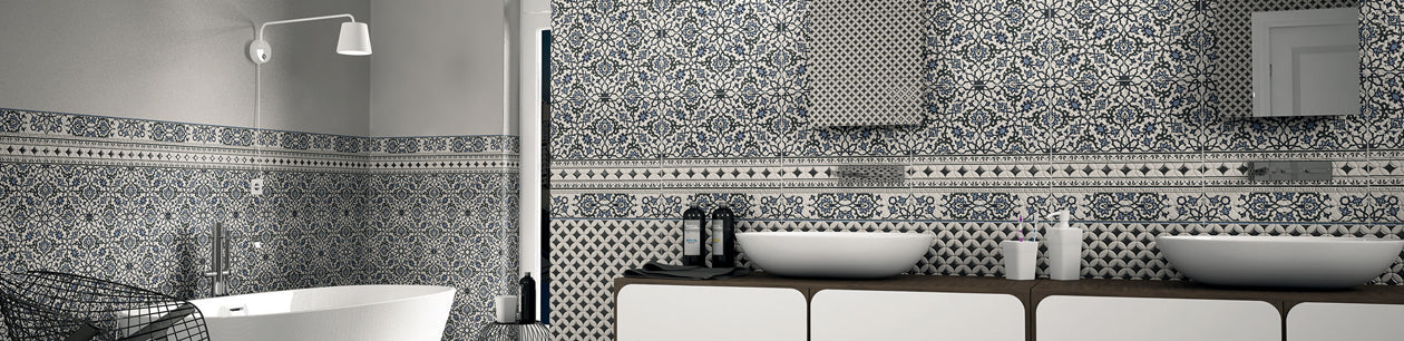 Baked Tile Karaja Collection: Decorative Pattern Tiles