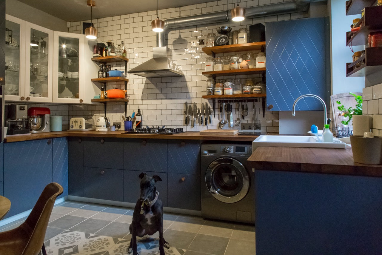 Industrial Kitchen using Baked Tiles Town & Country