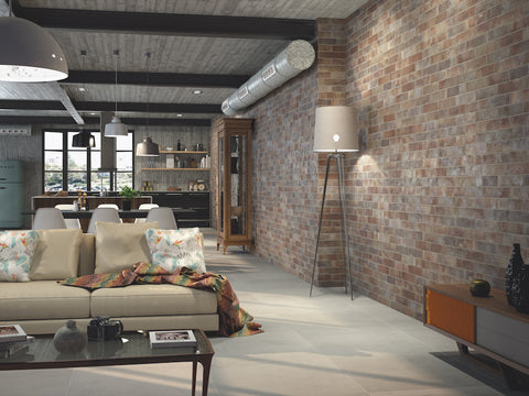 Industrial Style Brick Effect Tiles