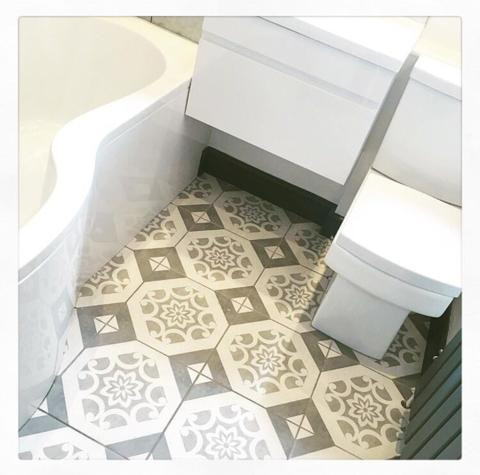 Canvas Decor Floor Tiles