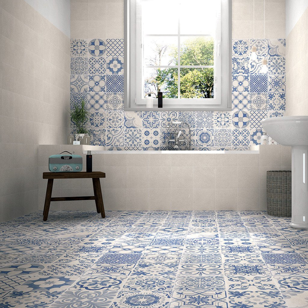 Elle White Decorative Tiles