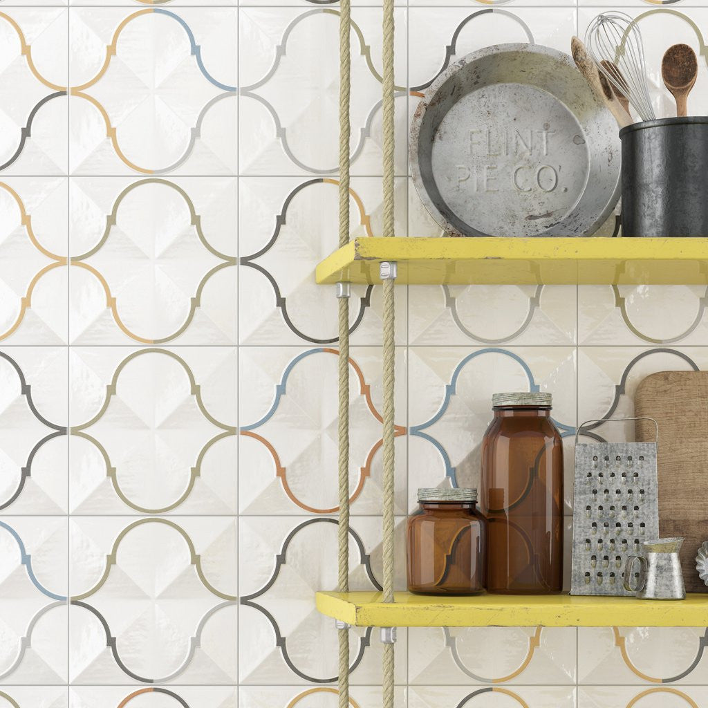Decorative Wall tiles used in Kitchen
