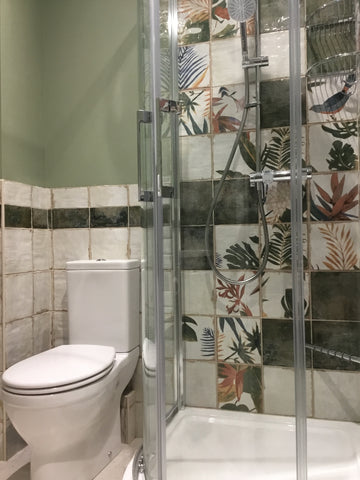tropical shower room