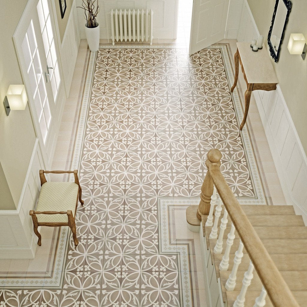 Victorian Patterned Bathroom Floor Tiles, The Baked Tile Company ...