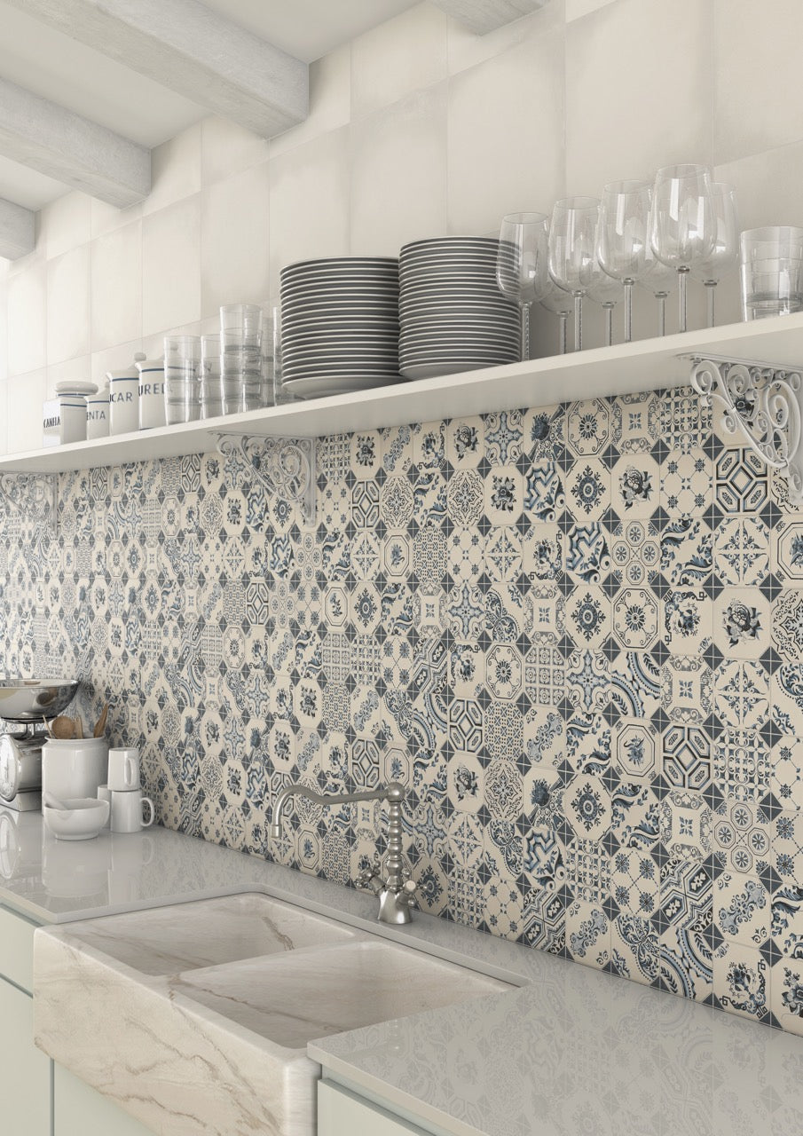 A guide to using decorative patterned wall floor tiles - Laura ashley barcelona ...