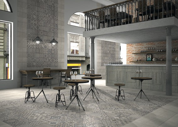 Industrial Style Pattern Floor Tiles