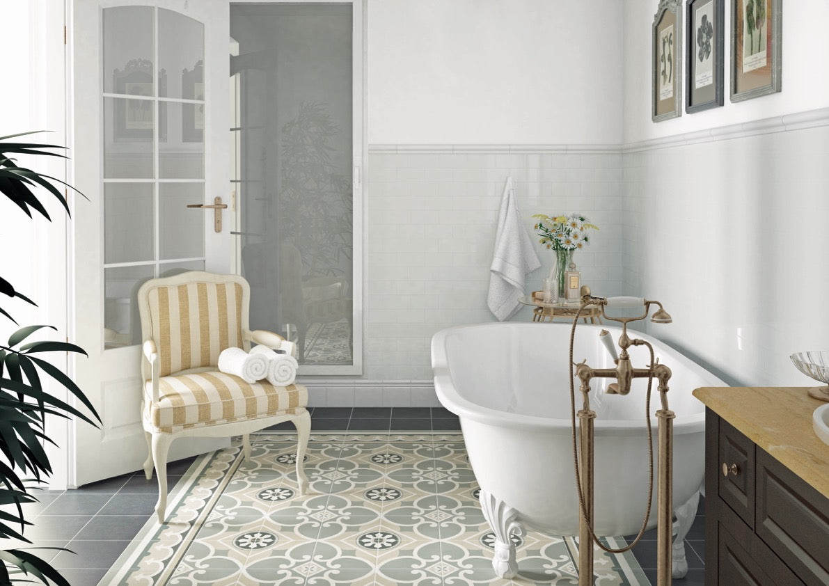 A guide to using decorative patterned wall floor tiles baked tiles traditional pattern floor tiles in hallway patterned dailygadgetfo Image collections