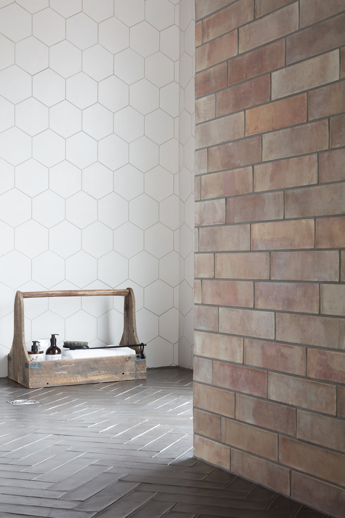 Brick Effect Wall & Porcelain Floor Tiles