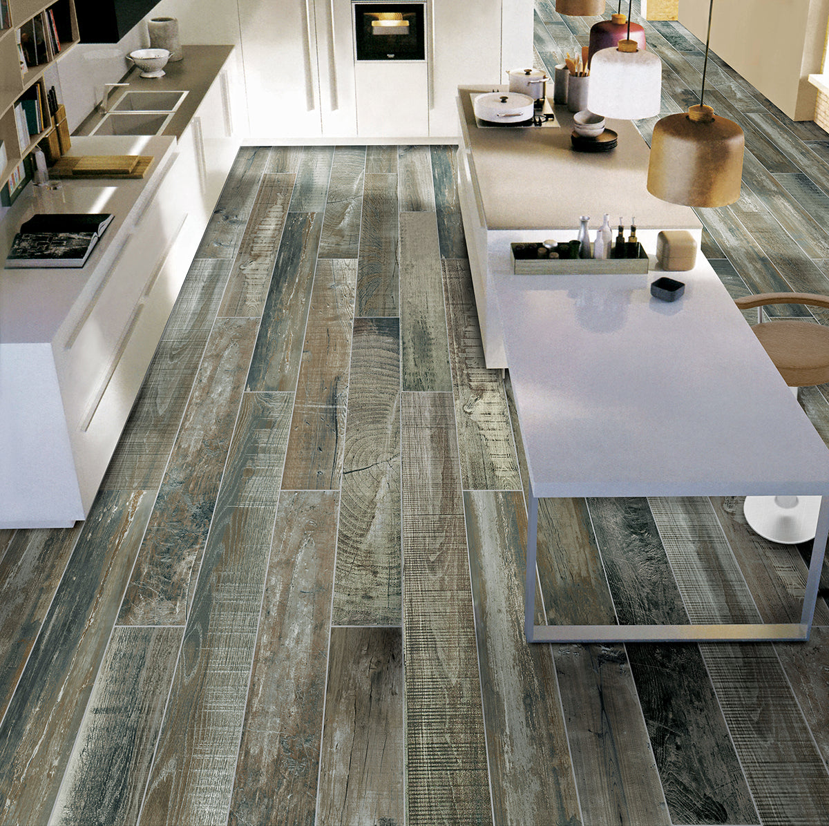 Courchevel Wooden Floor Statement Tiles