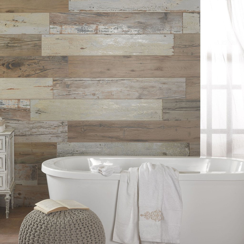 Salvaged Wood Effect Tiles