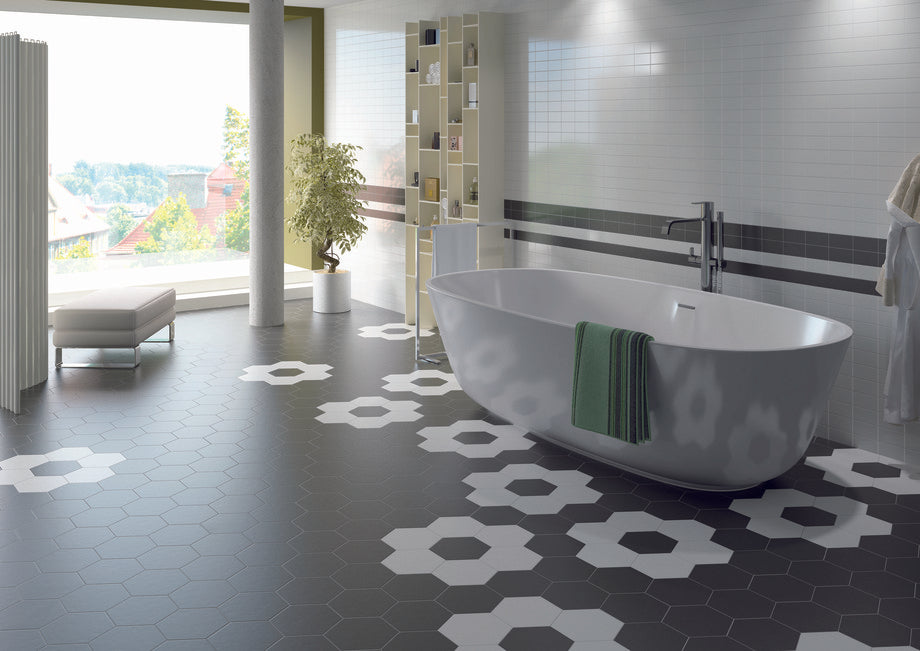 Hexagon Studio Statement Floor Bathroom Tiles
