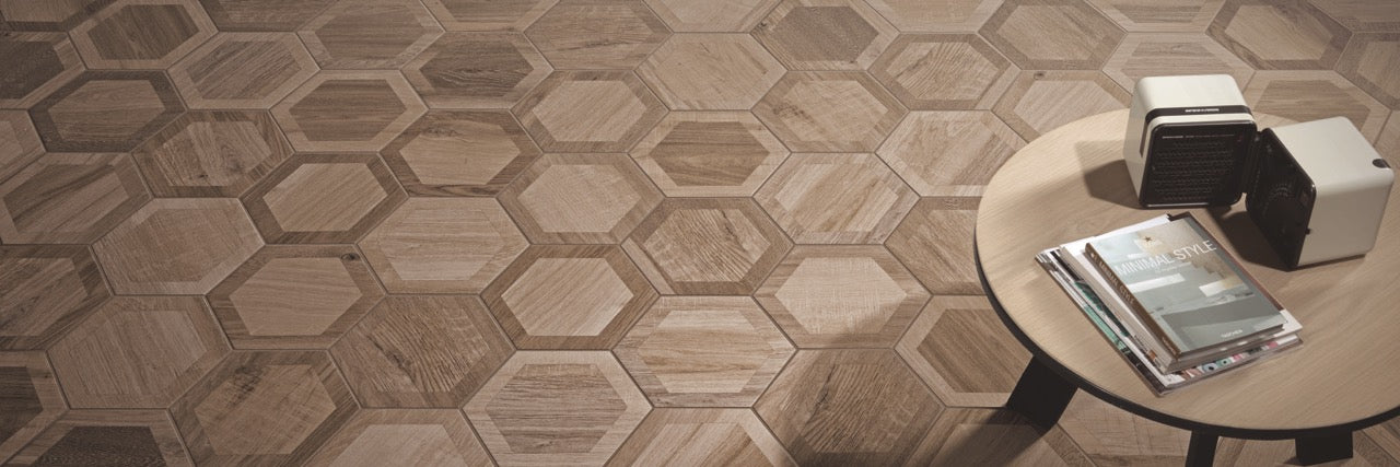 Hexagon Wood Tiles for a Pattern Wood Effect Floor Tile