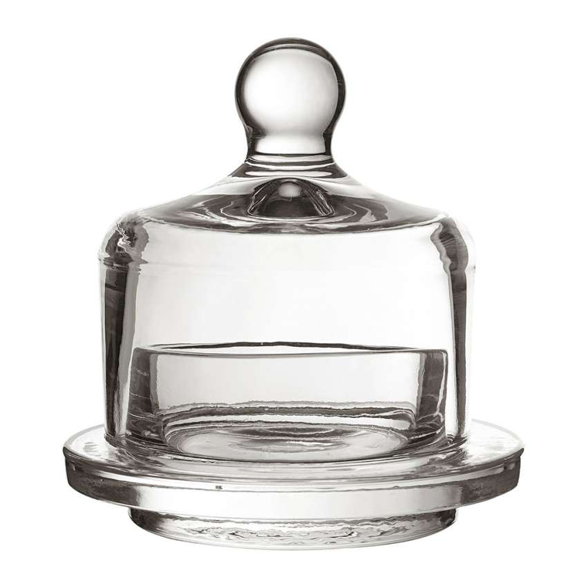 Small Glass Butter Dish