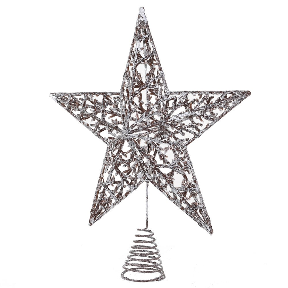 Snowy Twig Star Tree Topper