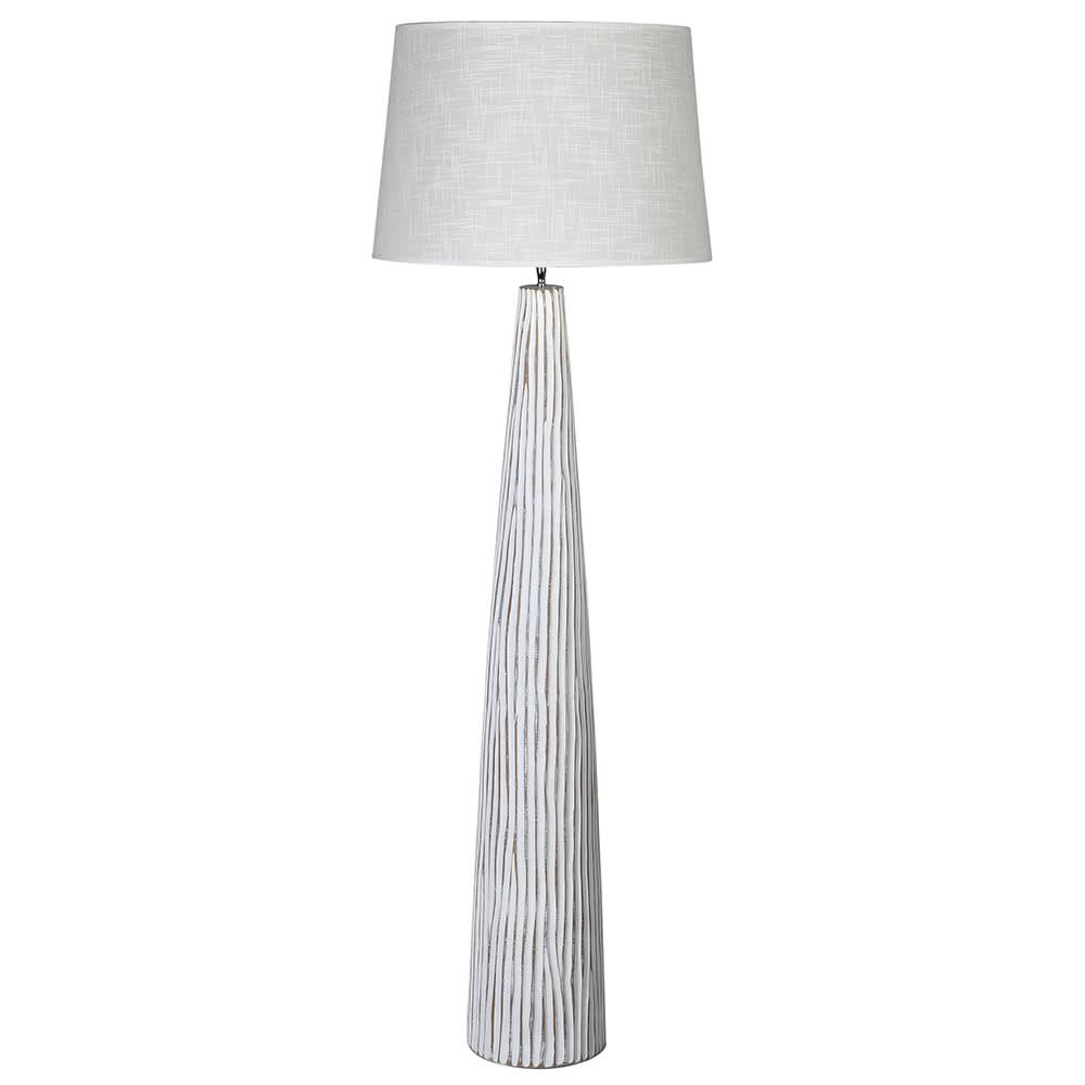 Whitewashed Floor Lamp