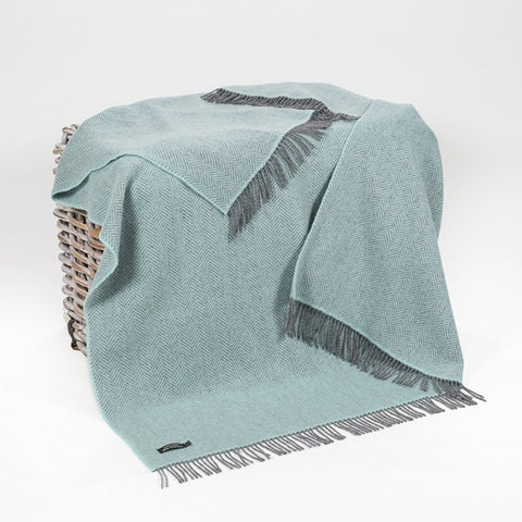 John Hanly Merino Cashmere Throw - Ocean
