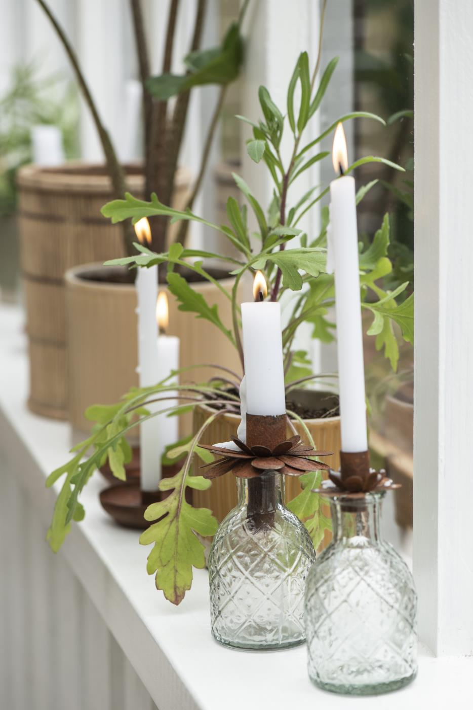 Rust Candle Holder For Jars