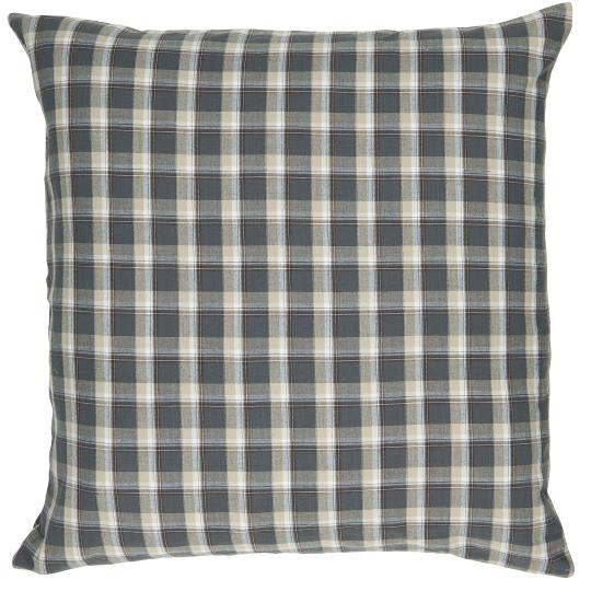 Checked Cushion in Anthracite