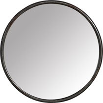 Large Round Iron Mirror