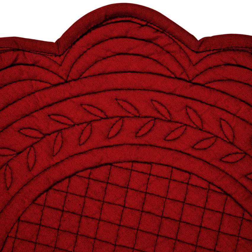 Round Padded Red Place Mat