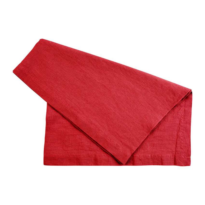 Basic Red Linen Runner