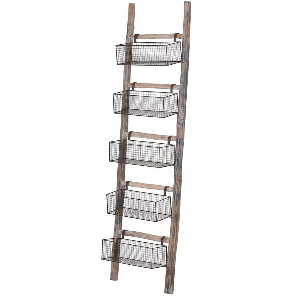 Ladder with Baskets