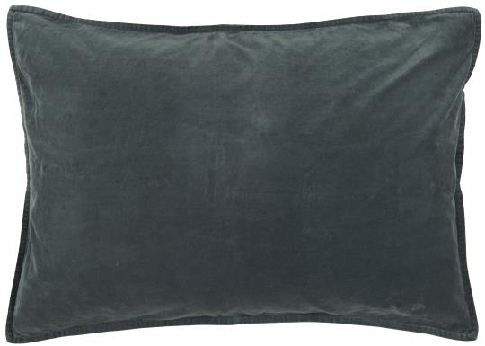 Rectangular Blue Velvet Cushion
